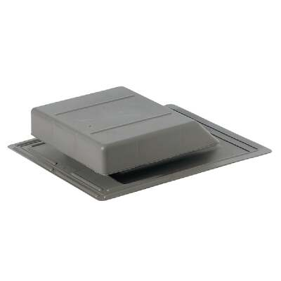 Airhawk 61 In. Weatherwood Plastic Slant Back Roof Vent