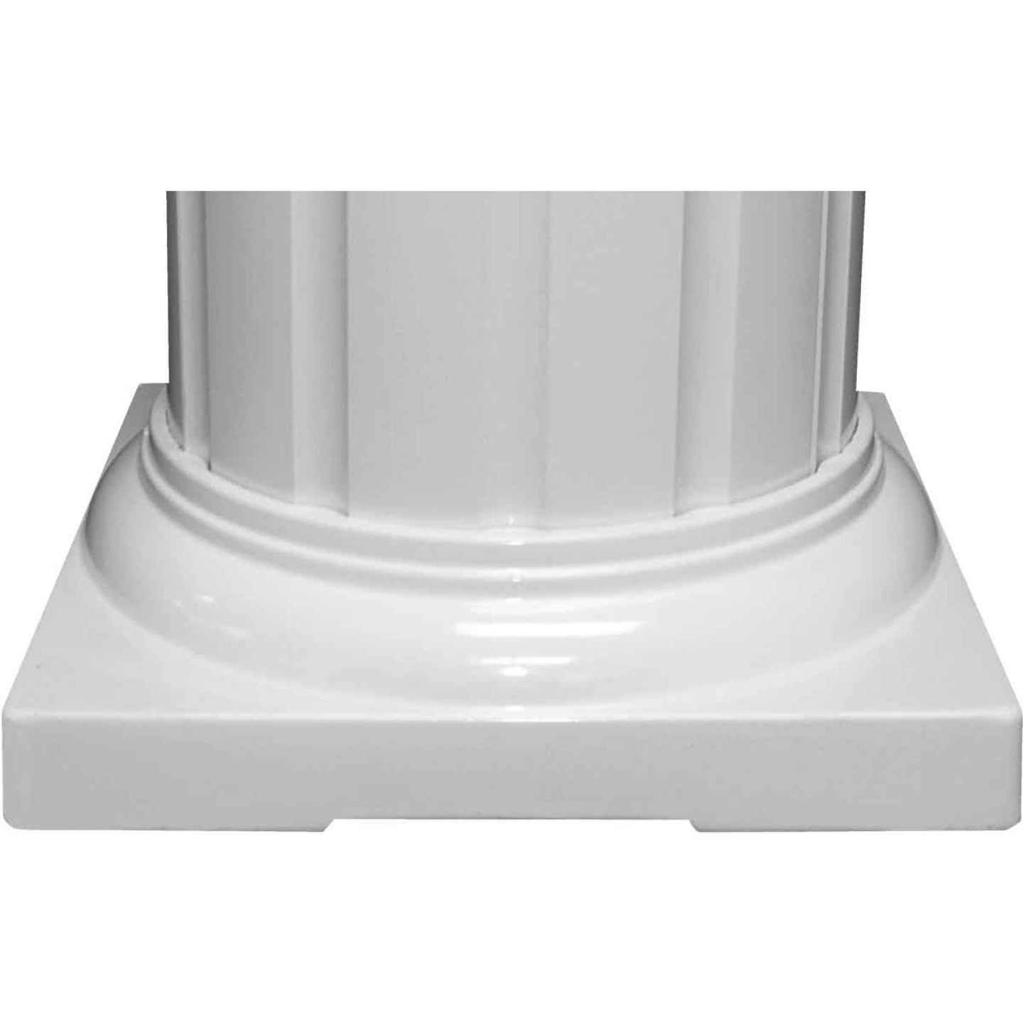 Crown Column 8 In. White Aluminum Standard Cap/Base Image 1