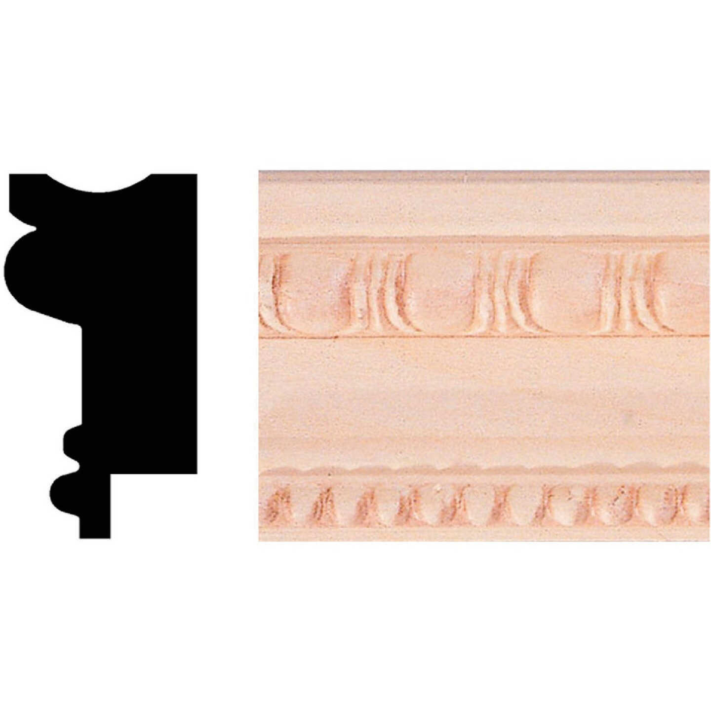 House of Fara 3/4 In. x 1-1/2 In. x 8 Ft. Hardwood Picture Frame Molding Image 1