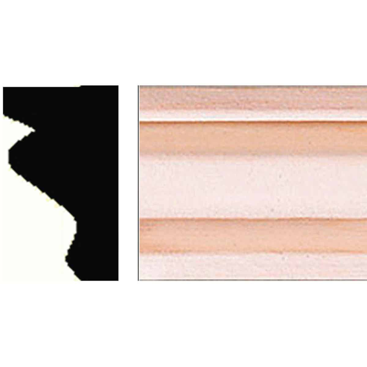 House of Fara 11/16 In. W. x 1-1/4 In. H. x 8 Ft. L. Hardwood Decorative Shoe Detail Molding Image 1