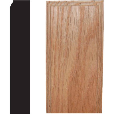 House of Fara 7/8 In. W. x 2-1/2 In. H. x 5 In. L. Oak Plinth Block