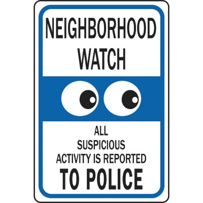 Hy-Ko Heavy-Duty Aluminum Sign, Neighborhood Watch