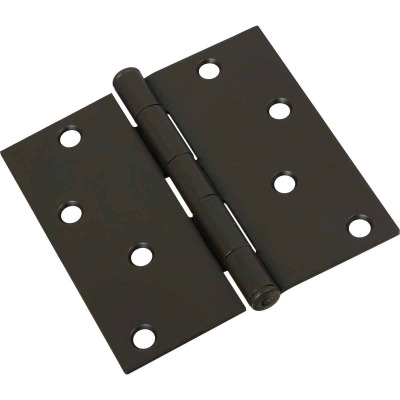 National 4 In. Square Oil Rubbed Bronze Door Hinge