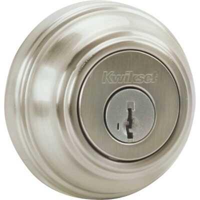 Kwikset Signature Series Satin Nickel Single Cylinder Deadbolt