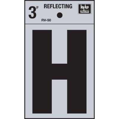 Hy-Ko Vinyl 3 In. Reflective Adhesive Letter, H