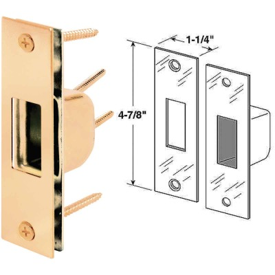 Defender Security Brass 1-1/4 In. High Security Strike Plate