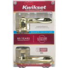 Kwikset Signature Series Polished Brass Tustin Privacy Door Lever  Image 4