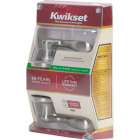 Kwikset Signature Series Satin Nickel Tustin Passage Door Lever Image 3