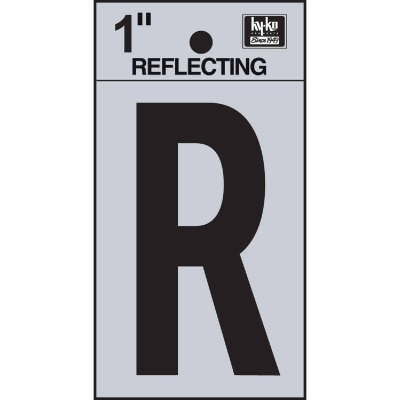 Hy-Ko Vinyl 1 In. Reflective Adhesive Letter, R