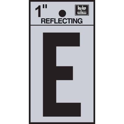 Hy-Ko Vinyl 1 In. Reflective Adhesive Letter, E