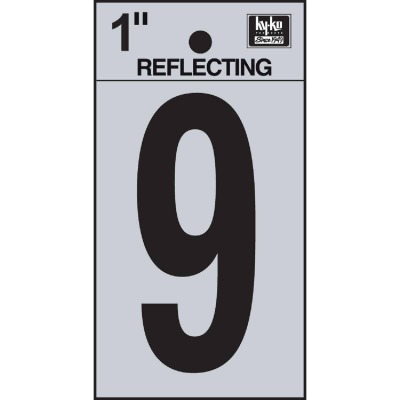 Hy-Ko Vinyl 1 In. Reflective Adhesive Number Nine