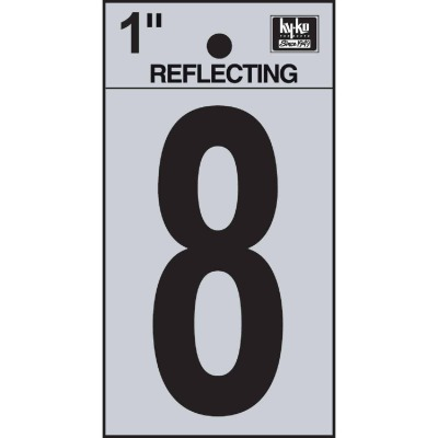 Hy-Ko Vinyl 1 In. Reflective Adhesive Number Eight