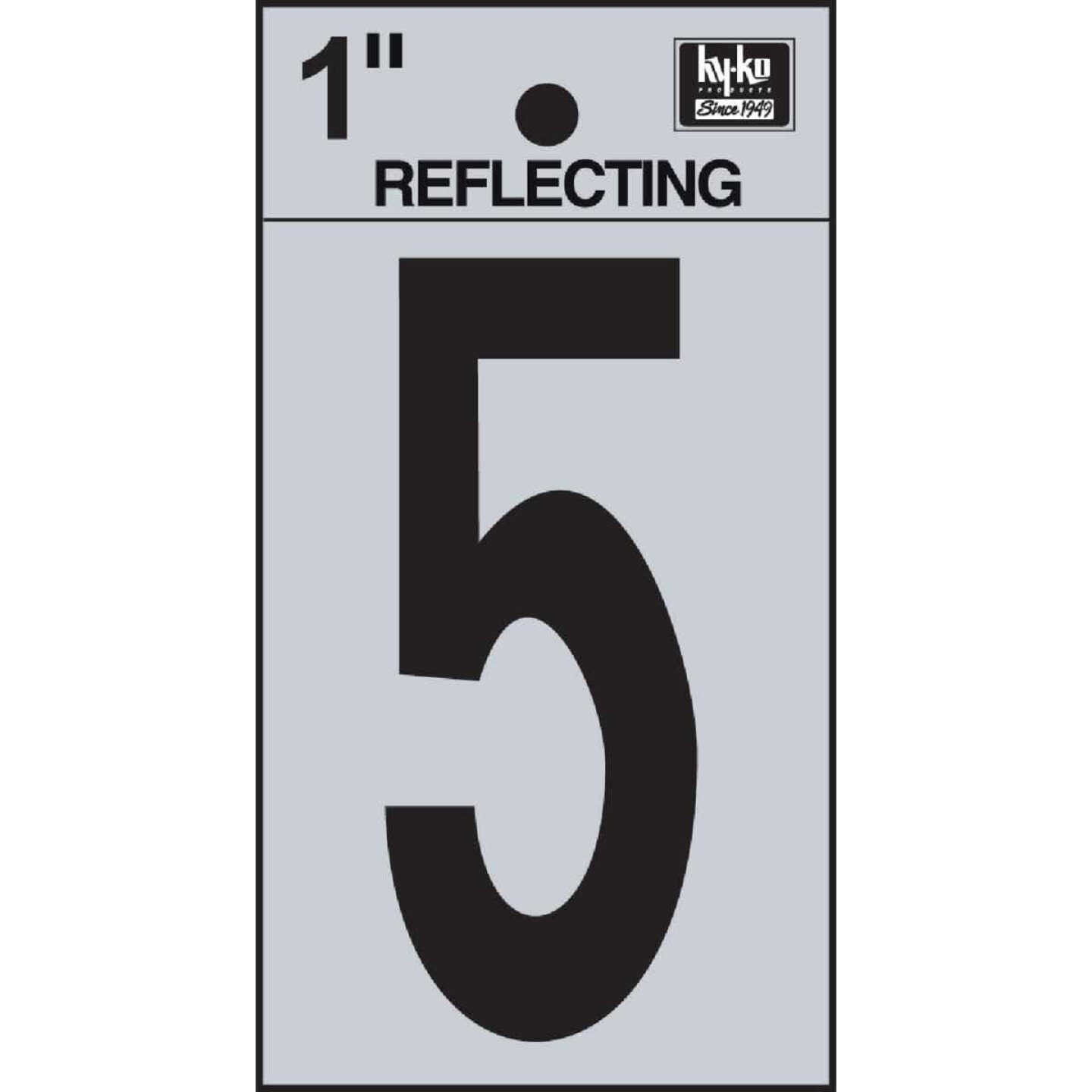 Hy-Ko Vinyl 1 In. Reflective Adhesive Number Five Image 1
