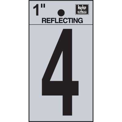 Hy-Ko Vinyl 1 In. Reflective Adhesive Number Four