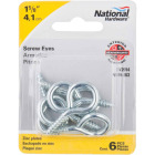 National #8 Zinc Large Screw Eye (6 Ct.) Image 2