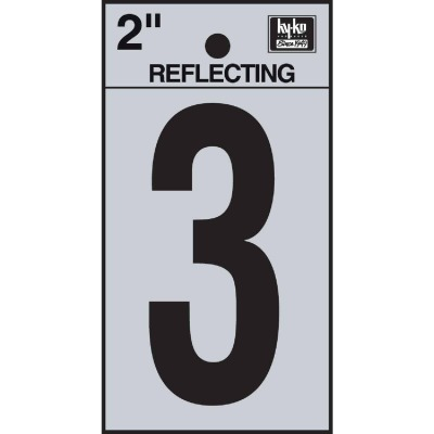 Hy-Ko Vinyl 2 In. Reflective Adhesive Number Three