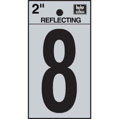 Hy-Ko Vinyl 2 In. Reflective Adhesive Number Eight
