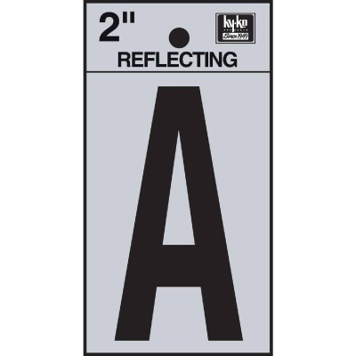 Hy-Ko Vinyl 2 In. Reflective Adhesive Letter, A