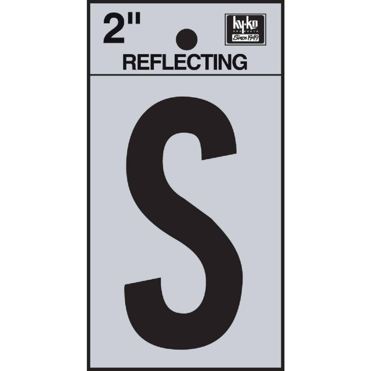 Hy-Ko Vinyl 2 In. Reflective Adhesive Letter, S Image 1