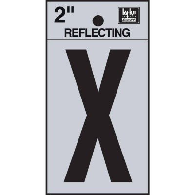 Hy-Ko Vinyl 2 In. Reflective Adhesive Letter, X