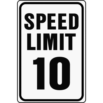 Hy-Ko Heavy-Duty Aluminum Sign, Speed Limit 10