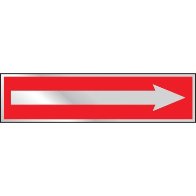 Hy-Ko Brushed Aluminum Sign, Arrow Right