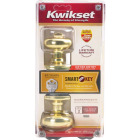 Kwikset Signature Series Polished Brass Juno Entry Door Knob with SmartKey Image 6