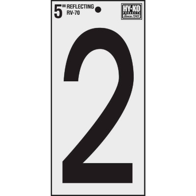 Hy-Ko Vinyl 5 In. Reflective Adhesive Number Two