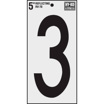 Hy-Ko Vinyl 5 In. Reflective Adhesive Number Three