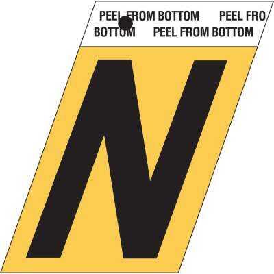 Hy-Ko Aluminum 1.5 In. Self-Adhesive Letter, N