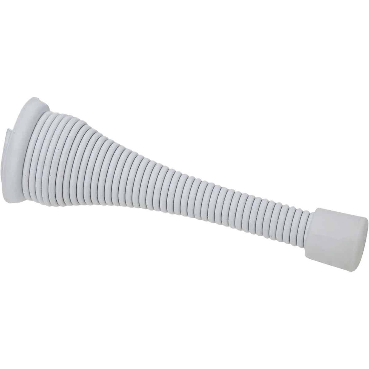National White Broad Spring Door Stop Image 1