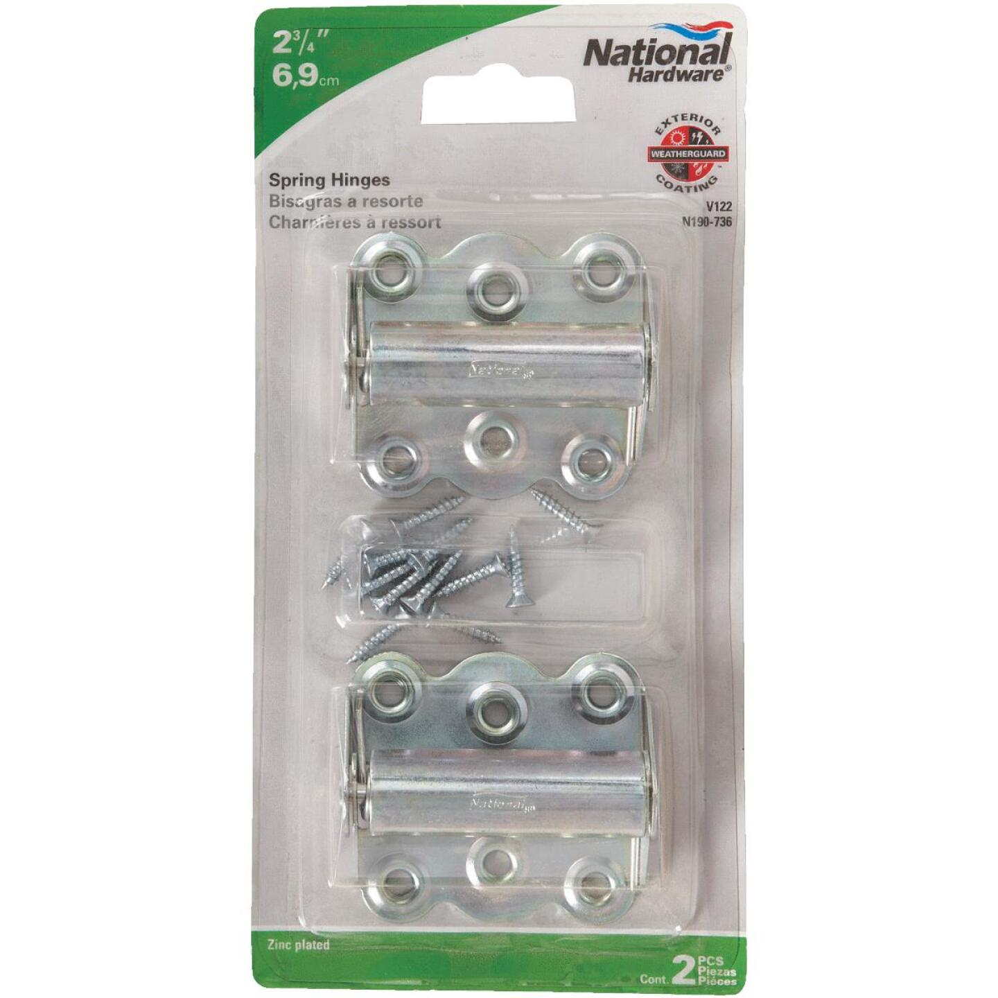 National 2-3/4 In. Zinc Spring Door Hinge (2-Pack) Image 2