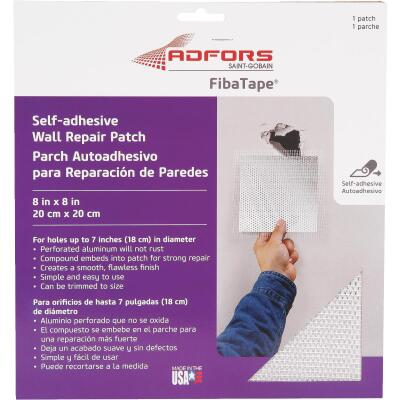 FibaTape 8 In. x 8 In. Wall & Ceiling Self-Adhesive Drywall Patch