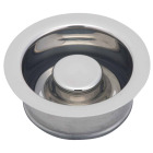 Do it Polished Chrome Brass Disposer Flange and Stopper Image 1