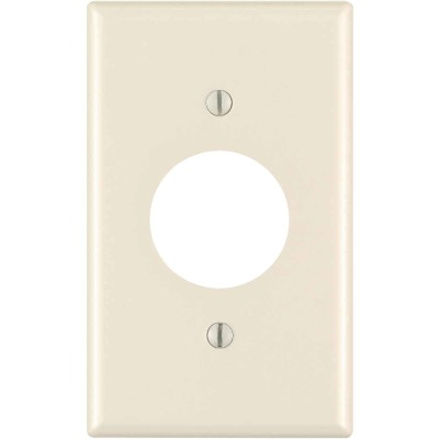Leviton 1-Gang Smooth Plastic Single Outlet Wall Plate, Light Almond