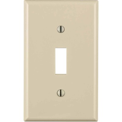 Leviton 1-Gang Thermoplastic Nylon Toggle Switch Wall Plate, Light Almond
