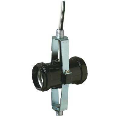 Westinghouse Keyless Medium Base Black Twin Lamp Socket