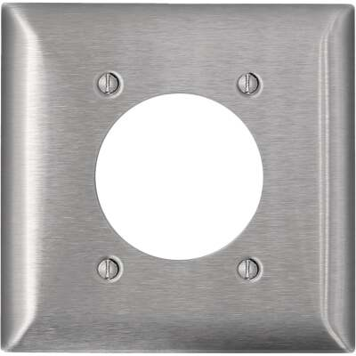 Leviton C-Series 2-Gang Stainless Steel Range/Dryer Wall Plate