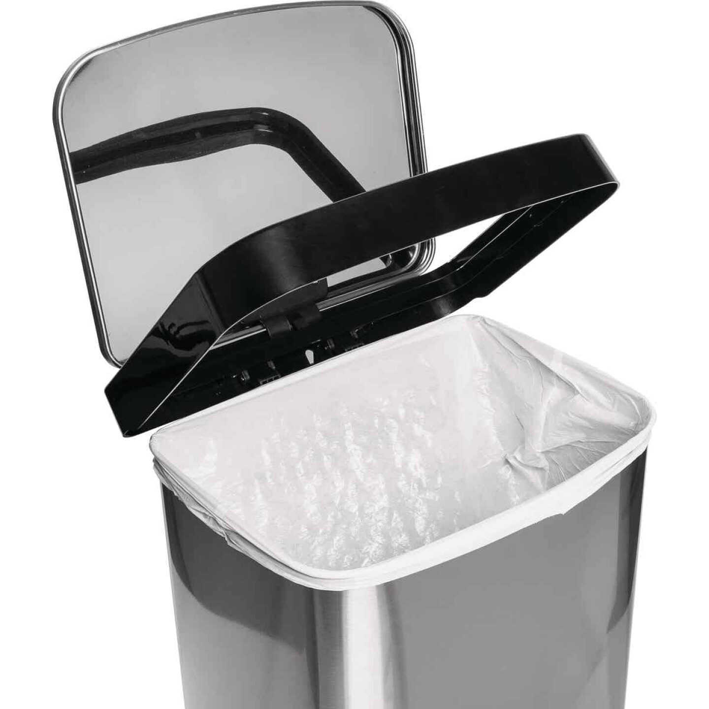 Honey Can Do 50L Stainless Steel Wastebasket Image 5