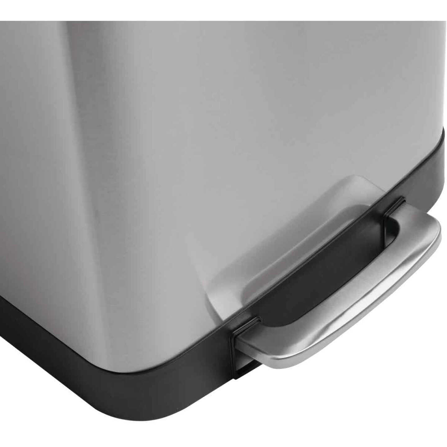 Honey Can Do 50L Stainless Steel Wastebasket Image 4