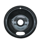 "Range Kleen Electric 8"" Style A Round Black Drip Pan Image 1"