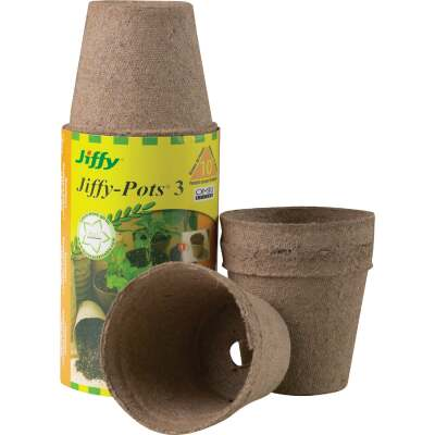 Jiffy 3 In. W. Round Peat Pot (10-Pack)