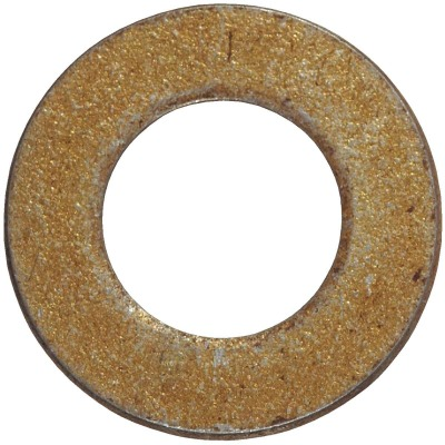Hillman 3/8 In. SAE Hardened Steel Yellow Dichromate Flat Washer (100 Ct.)