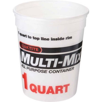 Leaktite 1 Qt. White Multi-Mix All Purpose Mixing And Storage Container