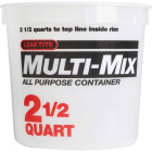 Leaktite 2.5 Qt. White Multi-Mix All Purpose Mixing And Storage Container Image 2