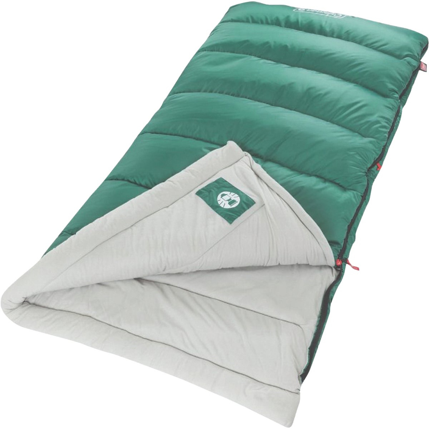 Coleman 40 Degree 33 In. W. x 75 In. L. Green Adult Sleeping Bag Image 1